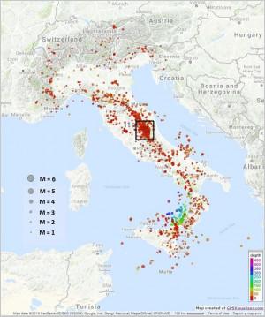 Bollettino Sismico Italiano (BSI), II quadrimestre 2016