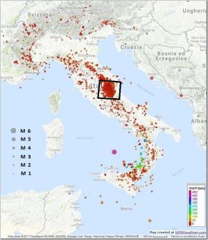 Bollettino Sismico Italiano (BSI), III quadrimestre 2016
