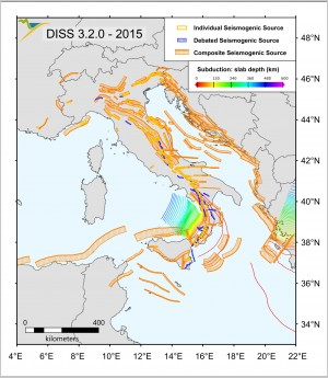 Database of Individual Seismogenic Sources (DISS), version 3.2.0