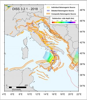 Database of Individual Seismogenic Sources (DISS), version 3.2.1