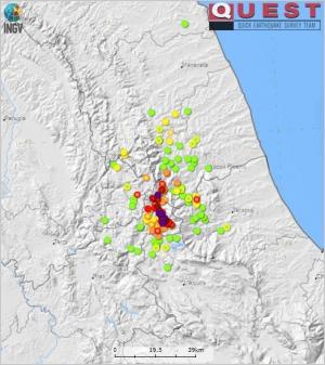 Rilievo macrosismico in EMS98 per il terremoto di Amatrice del 24 agosto 2016
