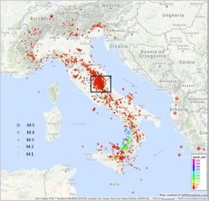 Bollettino Sismico Italiano (BSI), I quadrimestre 2017 (versione 2)
