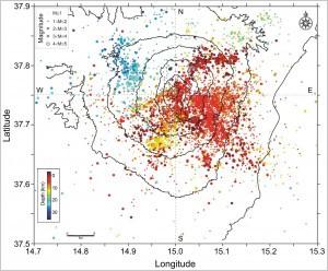 Mt. Etna Seismic Catalog 2014-2016