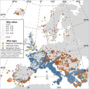 EPICA - European PreInstrumental Earthquake CAtalogue, version 1.1